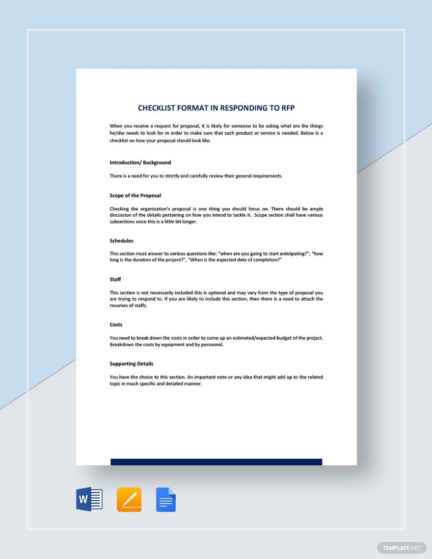 Instantly Download Checklist Sample Format For Responding To Rfp Template Sample Example In Microsoft Word Do Word Doc Checklist Presentation Design Layout