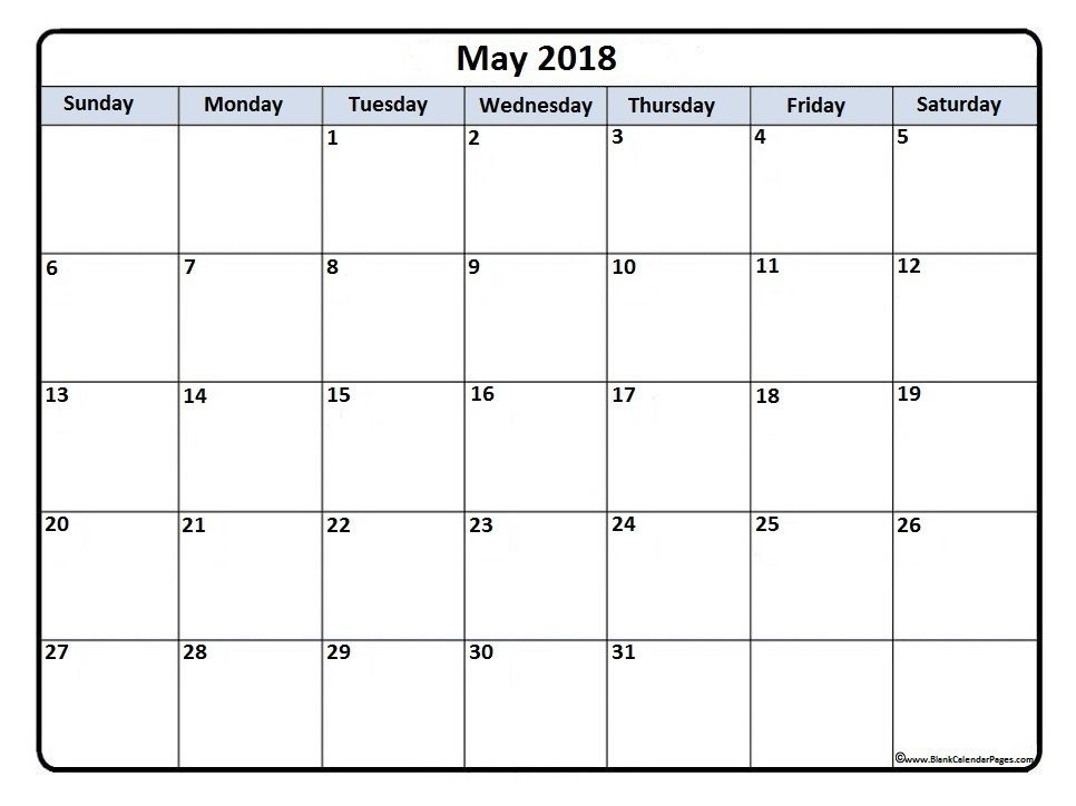 May 2018 printable calendar Teen Crafts Pinterest Printable