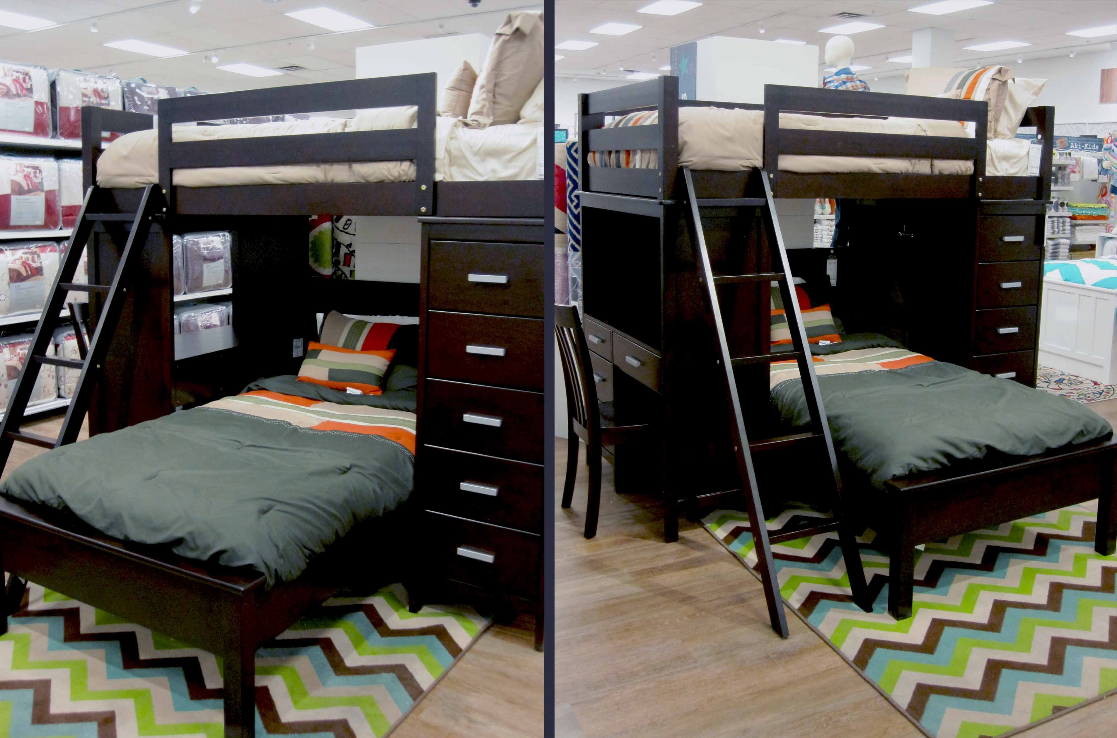 Loft bed ideas dorm  Awesome bunk bed great use of space for Kids and teens Perfect for