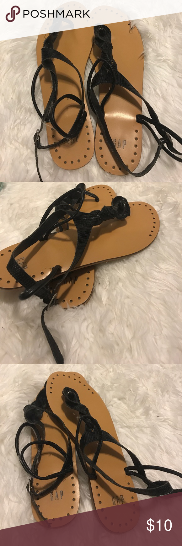Black sandals gap - Shop Women S Gap Black Tan Size 9 Sandals At A Discounted Price At Poshmark Description Barely Worn Braided Top Strap Sold By Tabbi_ann