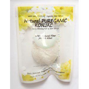 Natural PureGanic KONJAC Fiber Sponge Skin care