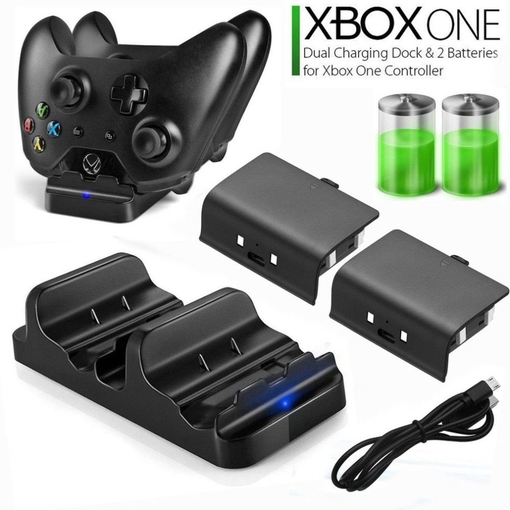 Fast Charger For Xbox One Dual Charging Dock Controller 2pcs Rechargeable Batteries In 2020 Charging Dock Xbox One Rechargeable Batteries