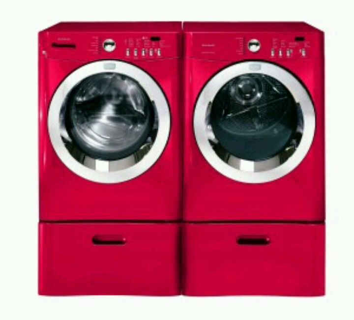 Hot Pink Washer Dryer For Haley Pink Laundry Rooms Red Washer And Dryer Washer And Dryer