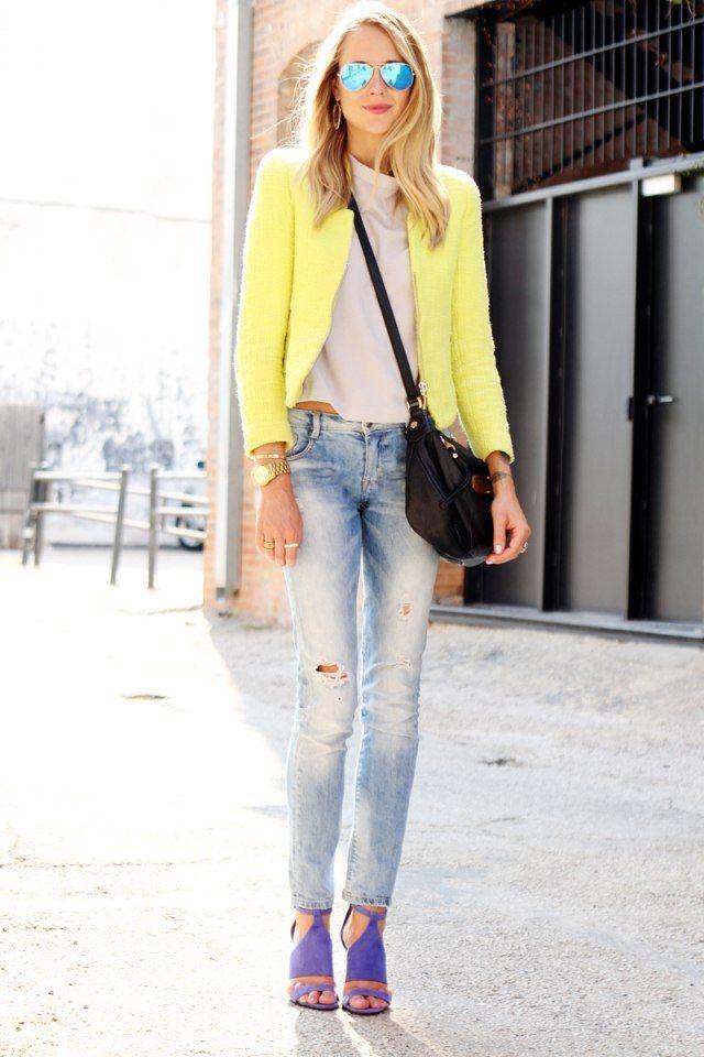 Veste jaune claire
