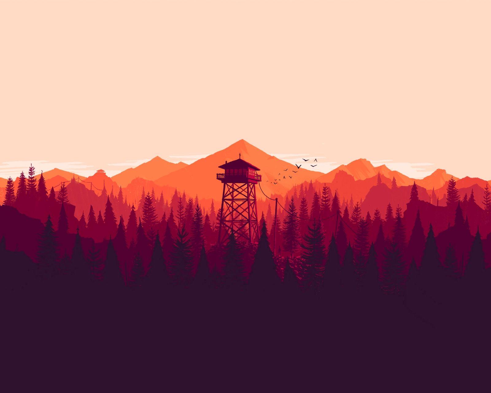 artwork by olly moss for httpwww firewatchgame com he a· wall wallpaperdesktop