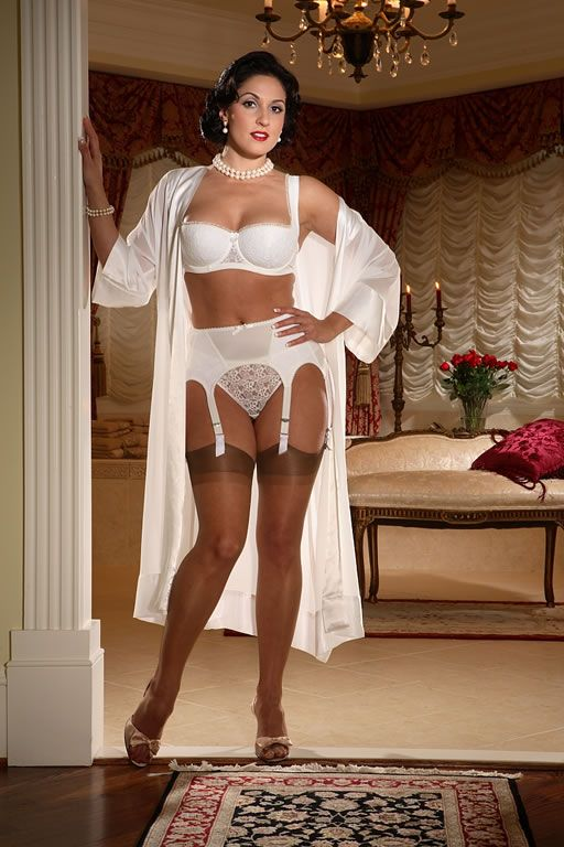 81533d858 Intrigue Garter Belt STYLE 3120 SL Price  54.00 Ivory