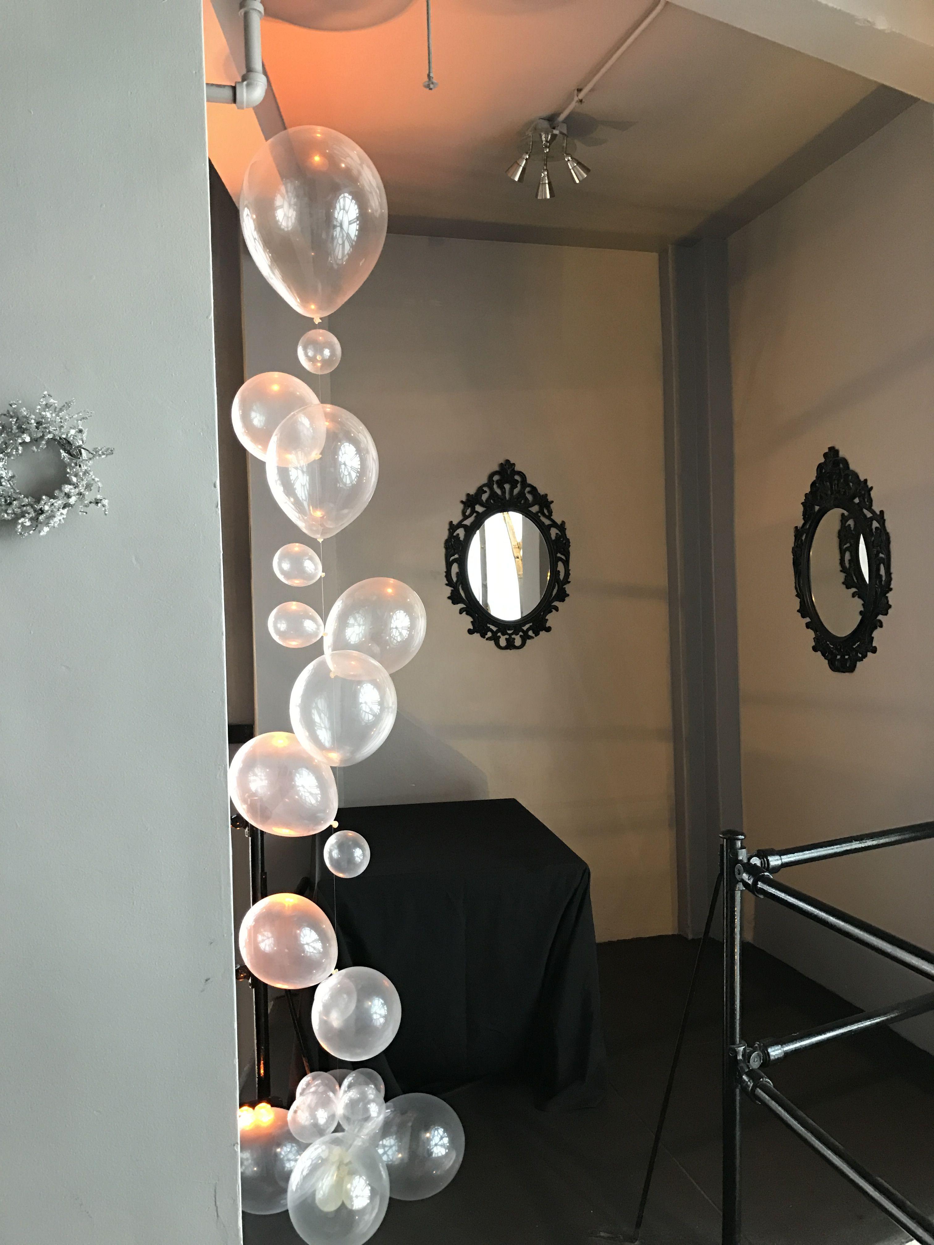 Balloon bubbles  Wedding Decor  Pinterest  Wedding