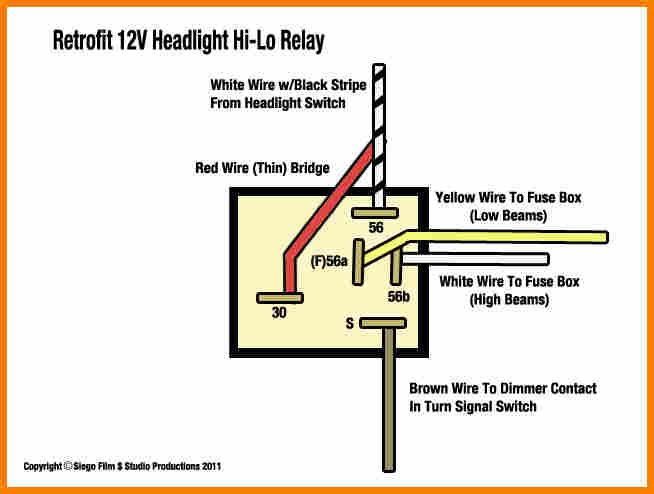 5  12 V Relay Wiring Diagram