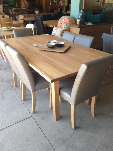 Awesome Alpine Oak Dining Table Pictured Here With 6 Low Back Creativecarmelina Interior Chair Design Creativecarmelinacom