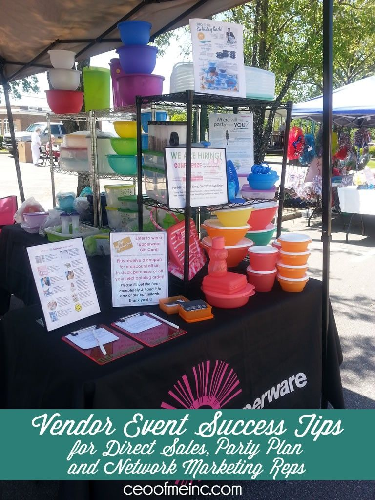 vendor event success tips for direct sales home party plan and