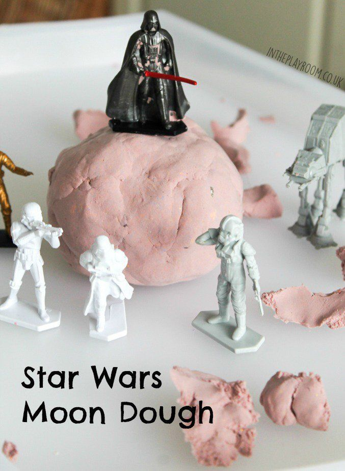 Star Wars Moon Dough is part of Kids Crafts Activities Star Wars - May the 4th be with you! Happy Star Wars day! I've got together with a group of blogging friends to share lots of fun Star wars activities for kids to mark the occasion  The kids and I had fun with Star Wars Moon Dough, and for the rest of the activities, make sure that you …