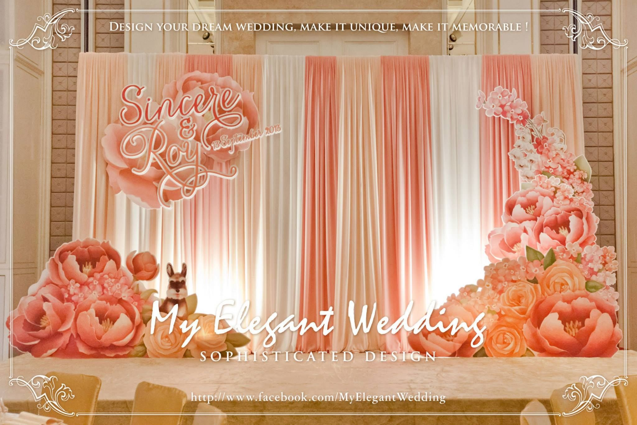 Color Theme Coral Backdrops For Parties Creative Decor