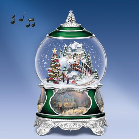 Thomas Kinkade White Christmas Snow Globe
