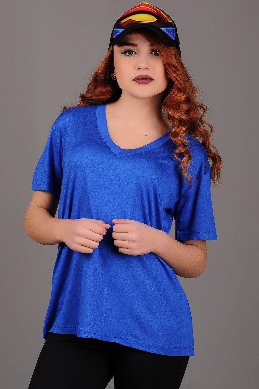Salas V Yaka Mavi T Shirt Giyim Indirim Kampanya Bayan Erkek Bluz Gomlek Trenckot Hirka Etek Yelek Mont Kase Kaban Elbise Moda Trenckot Giyim