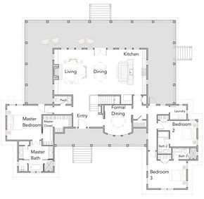 Large Open Floor Plans with Wrap Around Porches - Rest Collection ...