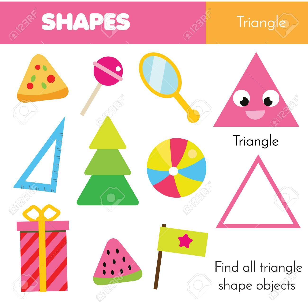 Educational Children Game Learning Geometric Shapes For