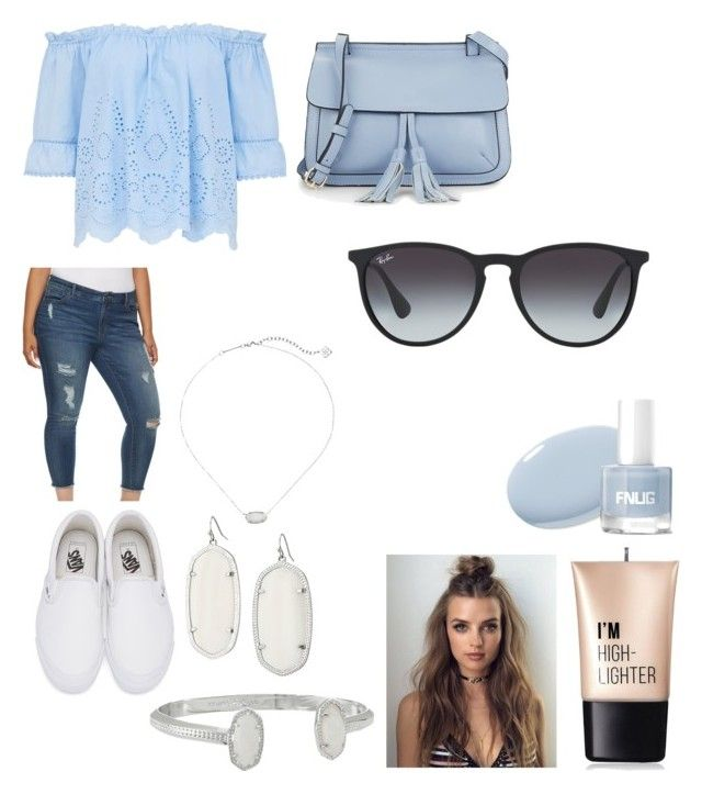 """""""Out to the day!"""" by loverrrrr on Polyvore featuring Jennifer Lopez, Vans, Kendra Scott, Charlotte Russe, KC Jagger and Ray-Ban"""