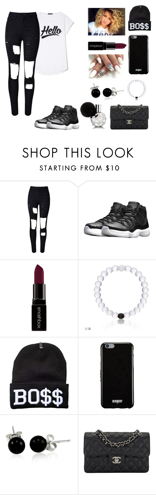 """""""boss"""" by jaeda2004 on Polyvore featuring interior, interiors, interior design, home, home decor, interior decorating, WithChic, NIKE, Smashbox and Givenchy"""