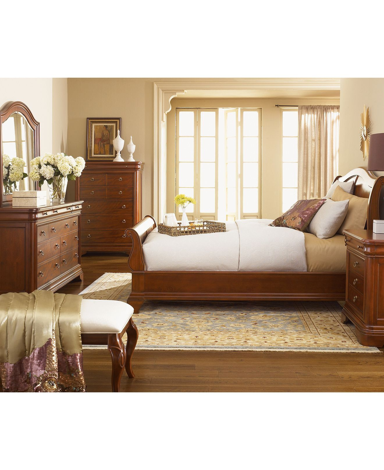 Bordeaux Louis Philippe Style Bedroom Furniture Collection Reviews Macy S
