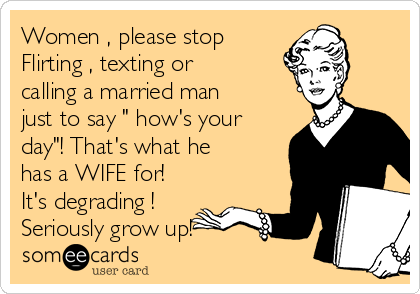 Text affair with a married man