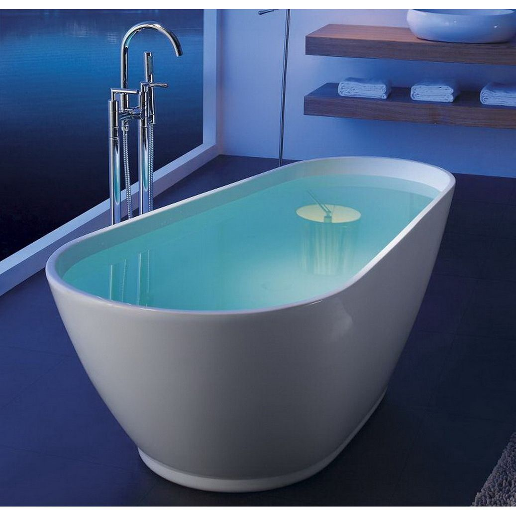 Modern Slipper 69-inch Freestanding Acrylic Bathtub | Acrylic tub ...