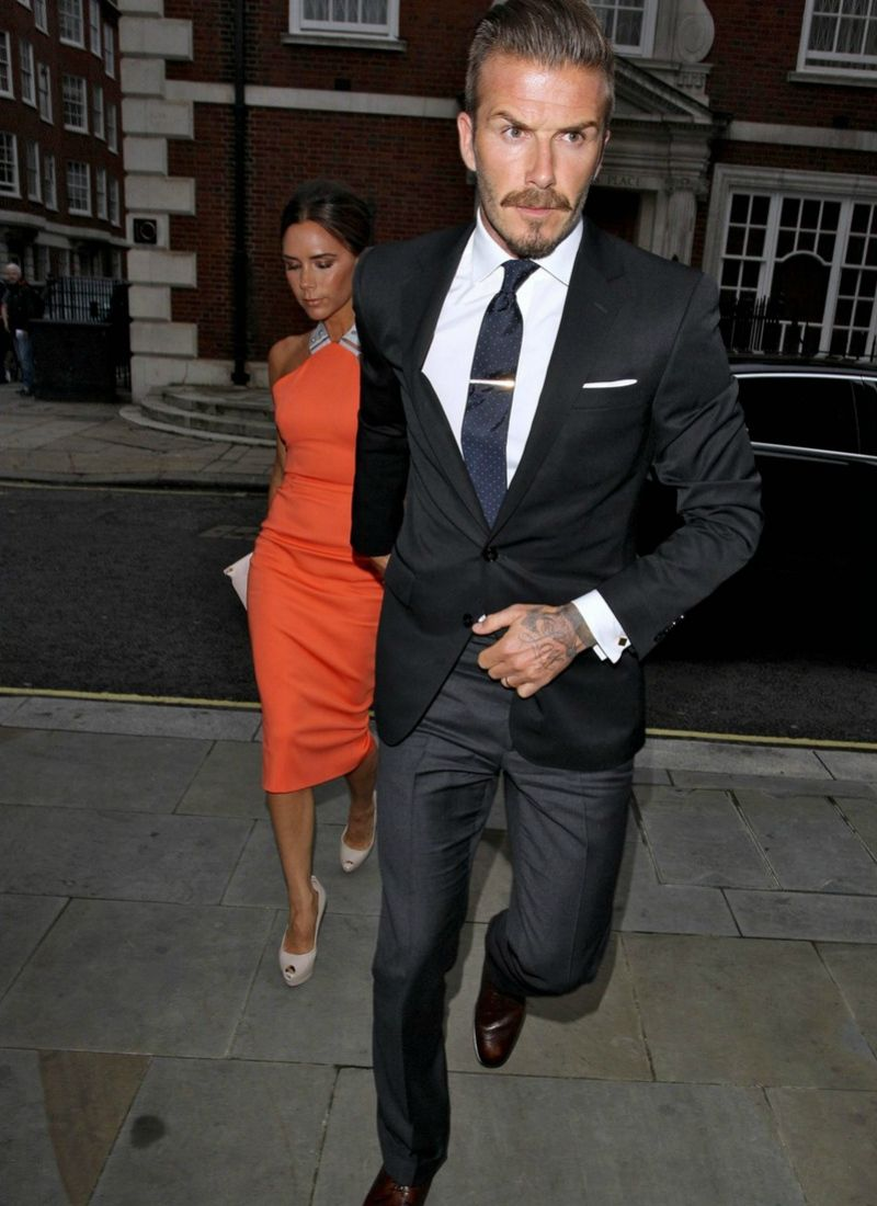 d8a6590c3e8 david beckham suit black blazer grey trousers