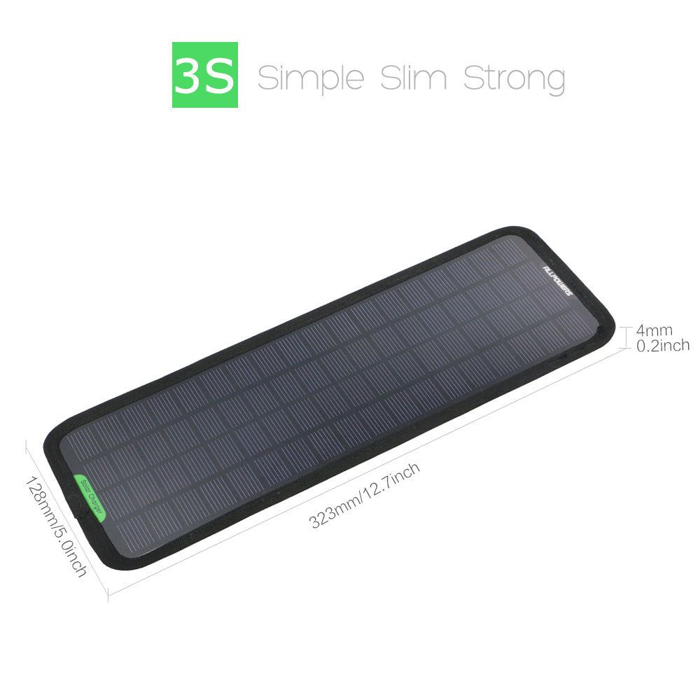 Portable Car Boat Power Solar Panel Battery Backup Charger