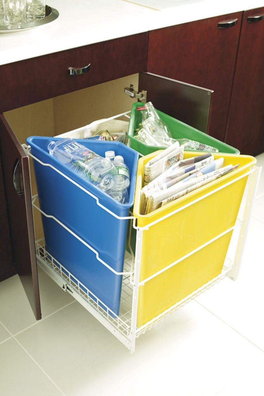 recycle center cabinet kitchen storage solutions cabinet organization plastic bins on kitchen organization recycling id=67380