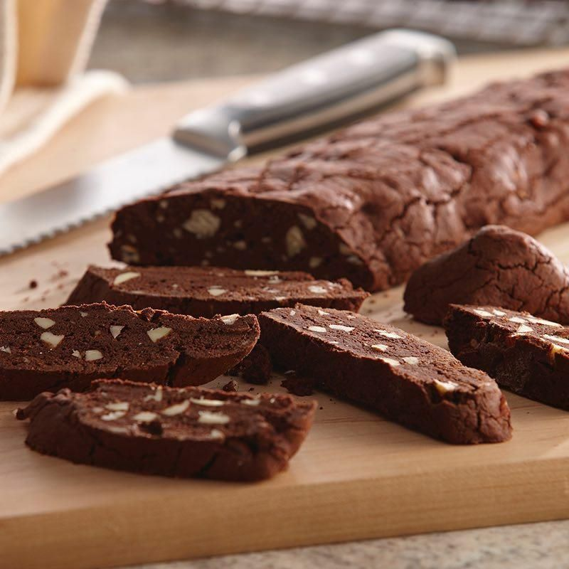 63 Festive Christmas Cookie Recipes Almond Biscotti: Chocolate Almond Biscotti