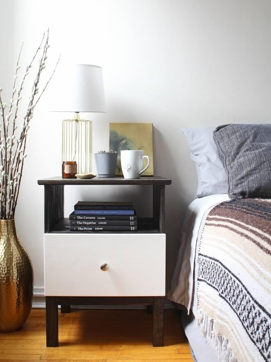 Ikea Hack Tarva Nightstand Gets Tech Friendly With Built In Charging Station
