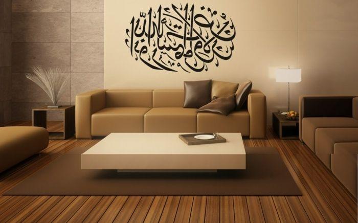 ... Braune Couch ▷ 130 + Ideen Für Orientalische Deko   Luxus Pur In Ihrer  Wohnung   Wohnzimmer Ideen ...