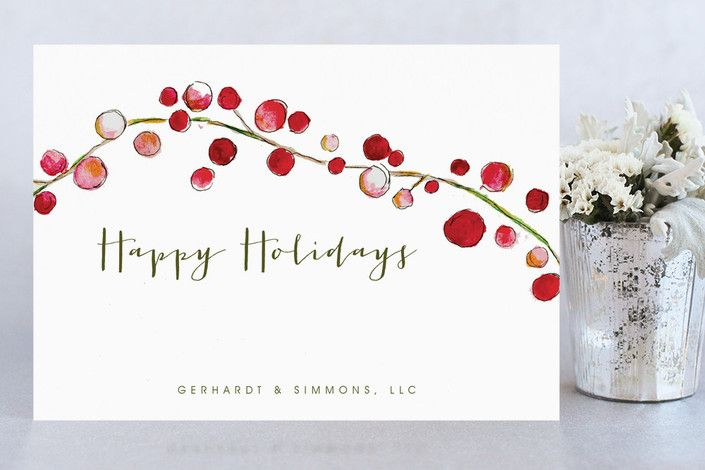 Holly and Berries by Petite Papier at minted.com