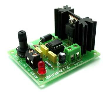555 DC Motor Speed Controller project will control the speed