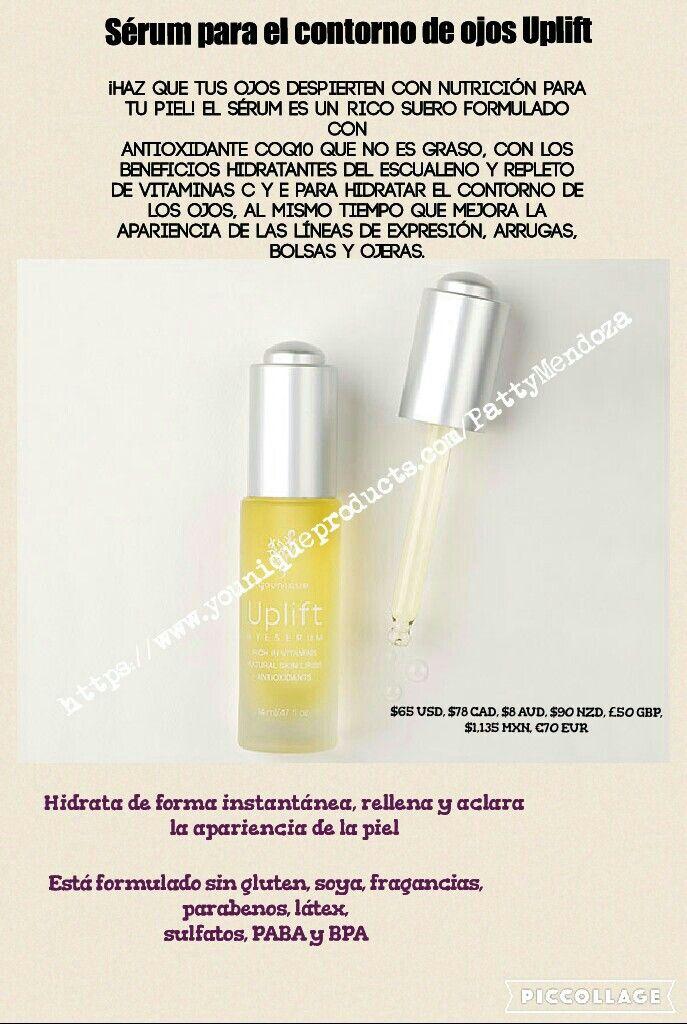 Sérum para ojos Uplift de Younique, un maravilloso producto que ayuda a minimizar arrugas, lineas de expresión, bolsas y ojeras.