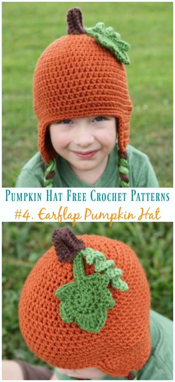 Pumpkin Hat Free Crochet Patterns Perfect for Autumn Harvest | Müze ...