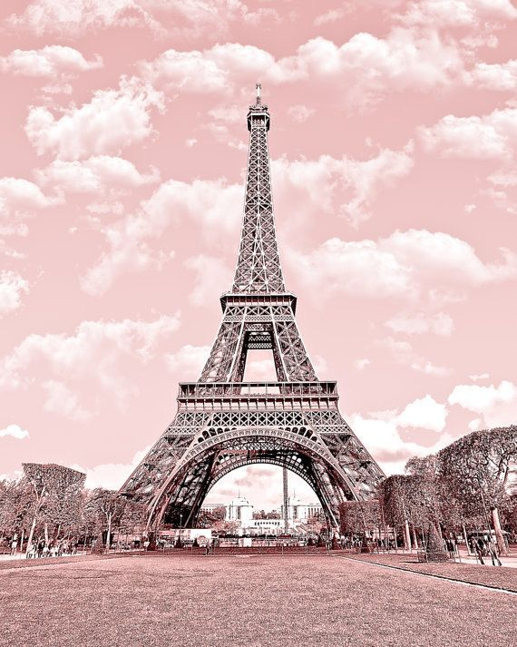 Paris in pink eiffel tower paris decor france digital for Art and decoration france