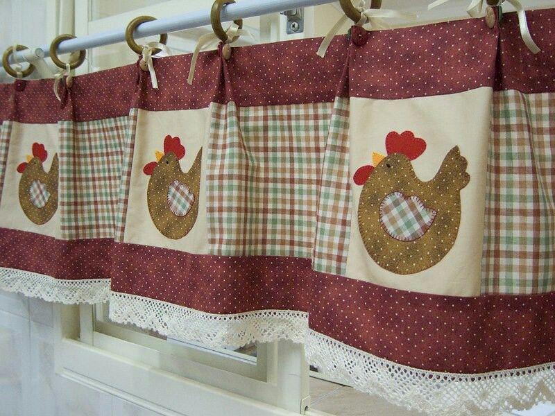 Kitchen curtain | CORTINAS E TAPETES | Pinterest | Gardinen ...