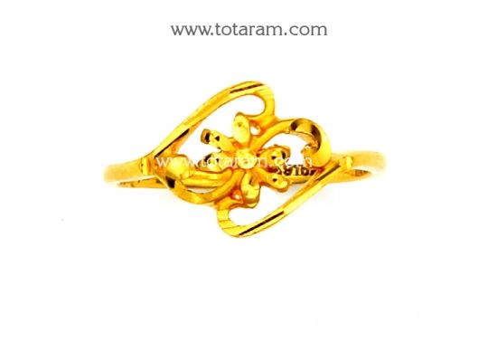 22K Gold Ring for Women Totaram Jewelers Buy Indian Gold jewelry