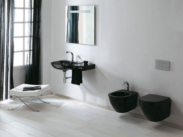 Sanitari sospesi cover neri sanitari bagno sospesi nel 2019 bathroom e bathtub - Sanitari bagno sospesi neri ...