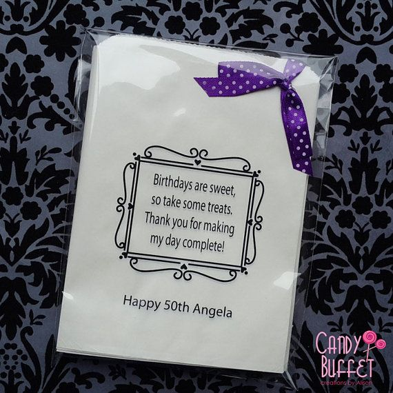 Happy Birthday Personalised Paper Candy by CandybuffetCreations