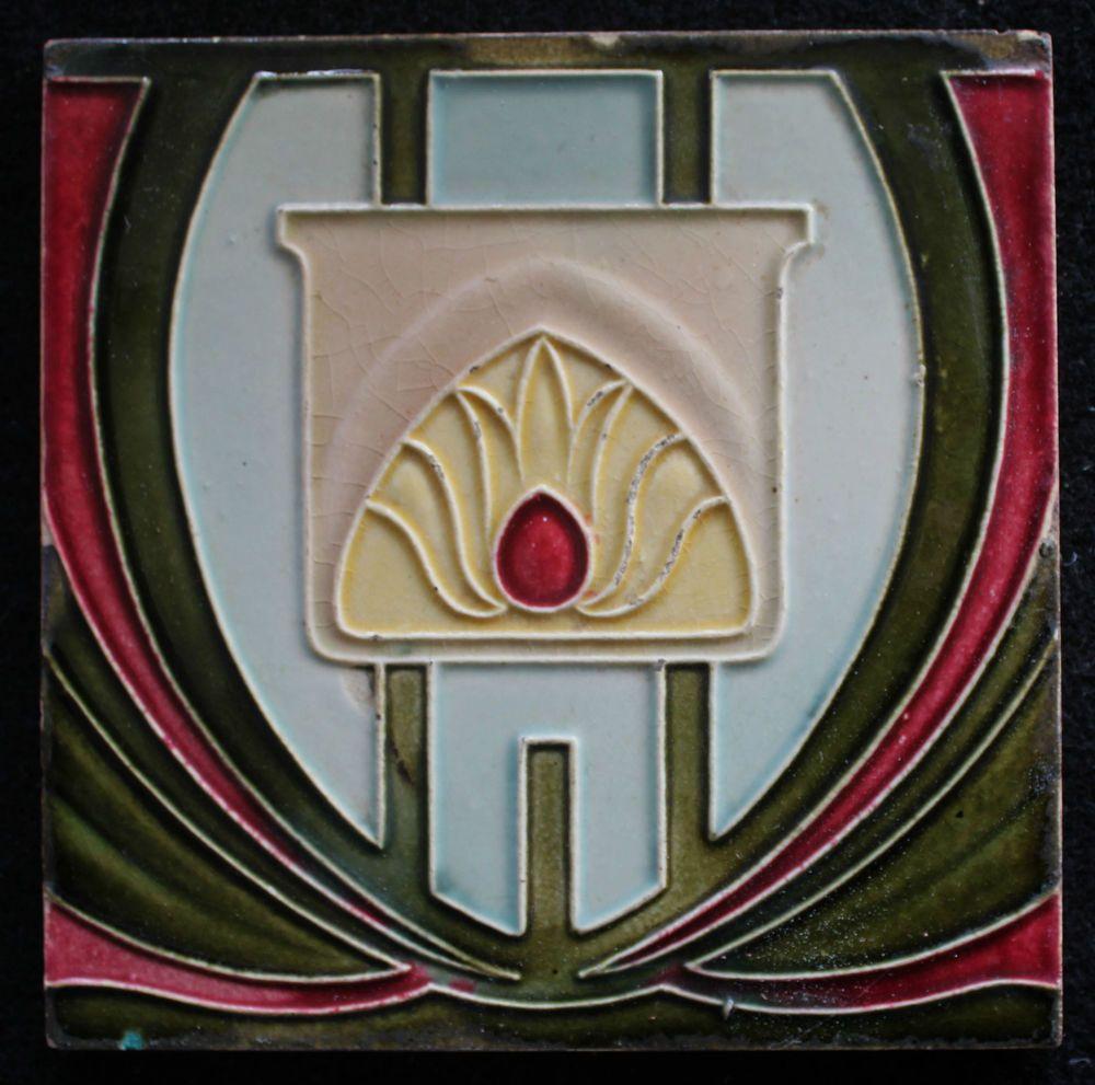 Badezimmer Fliesen Jugendstil: Jugendstil Fliese Art Nouveau Tile C1900 Carreau De Dyle