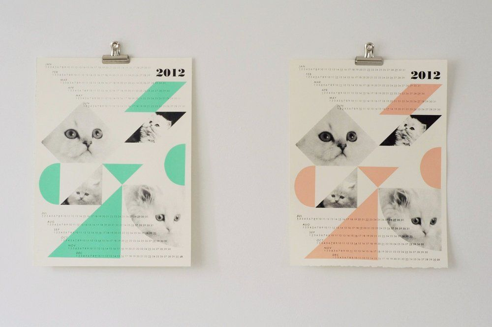 calendrier, graphic  design #neon #pastel