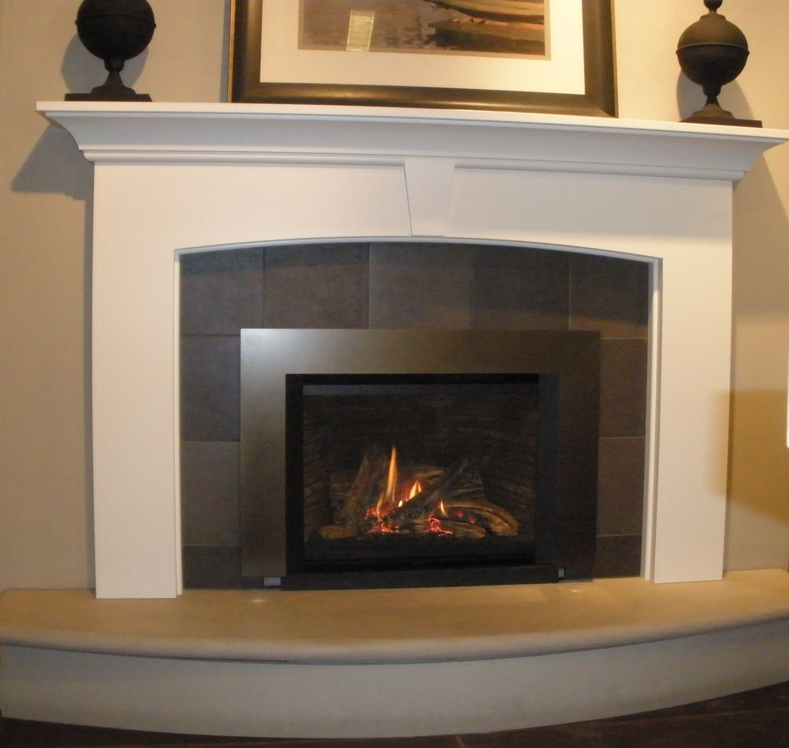 Valor G4 785jln Gas Fireplace Insert With 5 Bronze Trim Surround