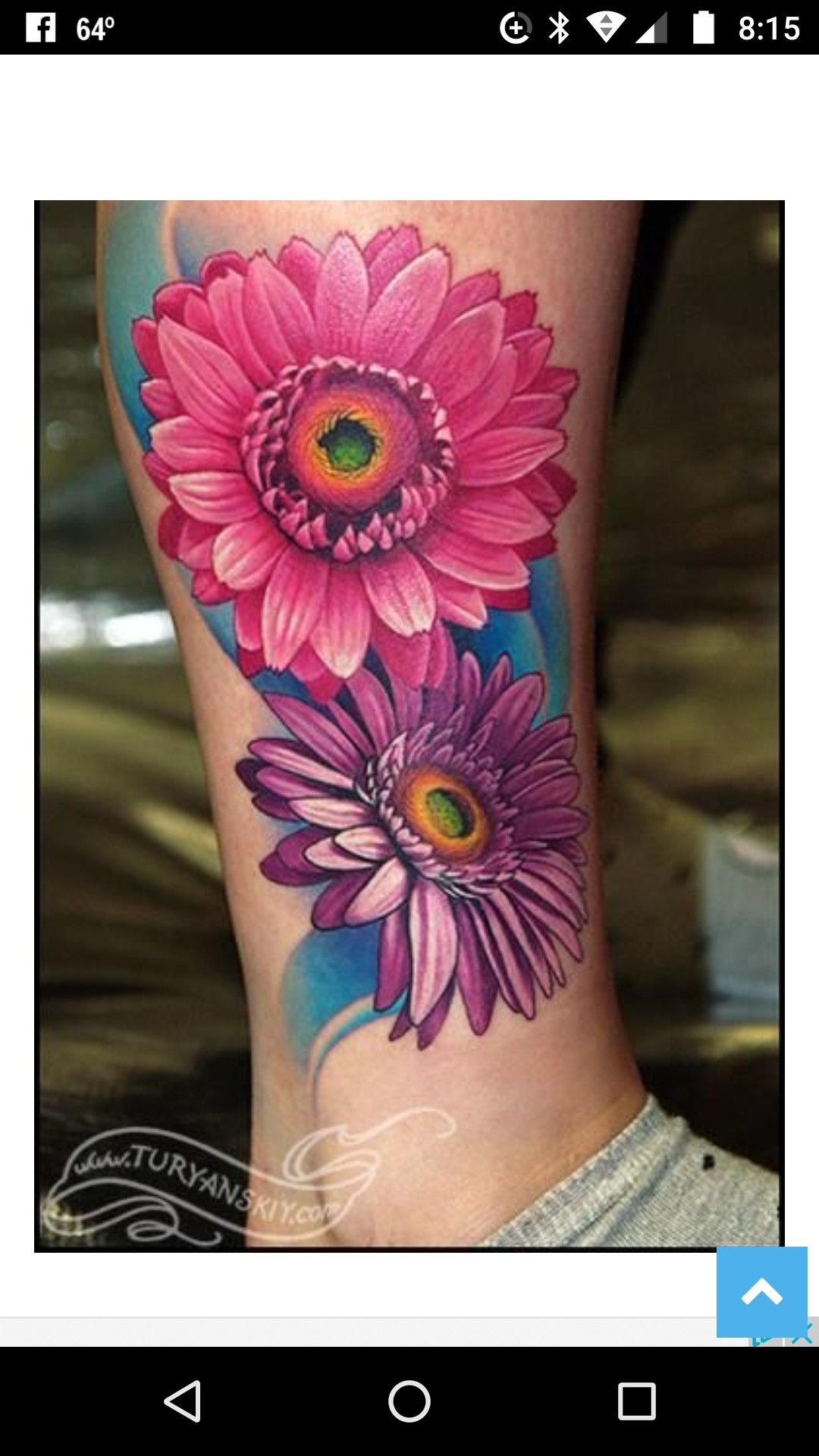 Love The Detail On These Flowers Daisy Tattoo Designs Daisy Flower Tattoos Beautiful Flower Tattoos