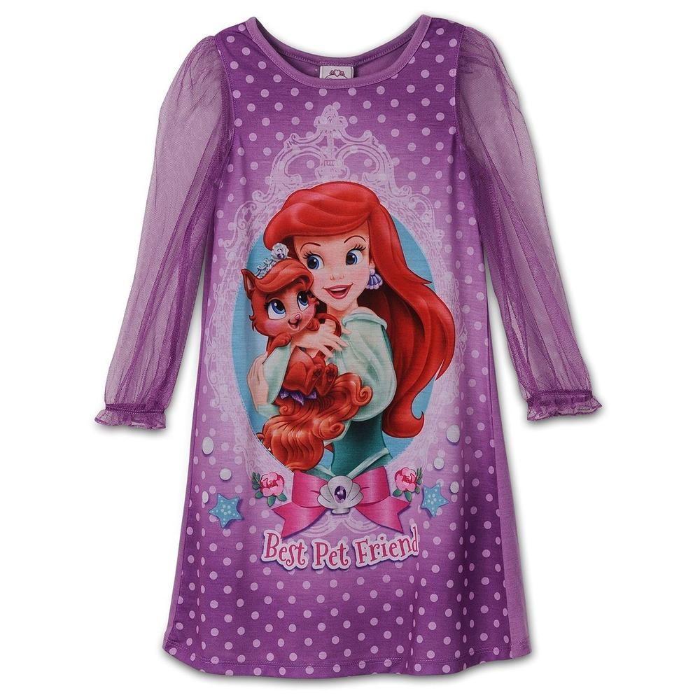 c5d774c6a7 Disney Princess Ariel Palace Pets Girls Purple Nightgown Pajamas Size 2T   Disney  Nightgown