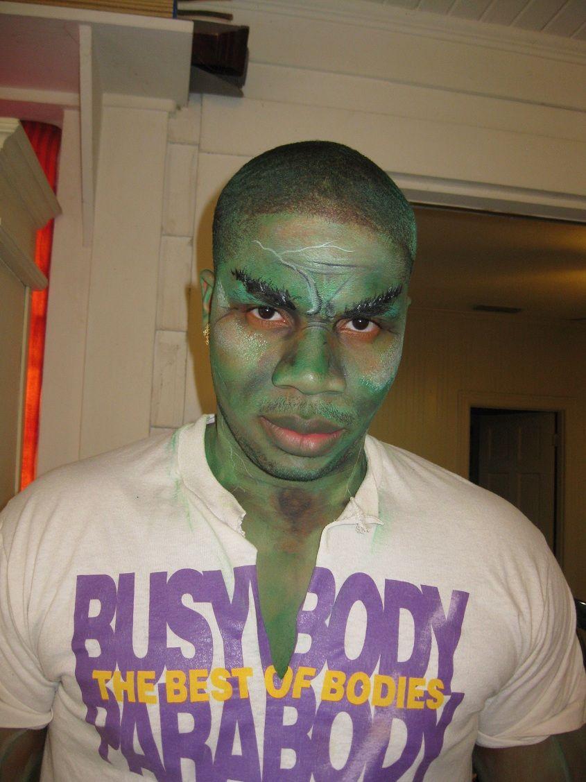 Incredible Hulk, I painted his makeup