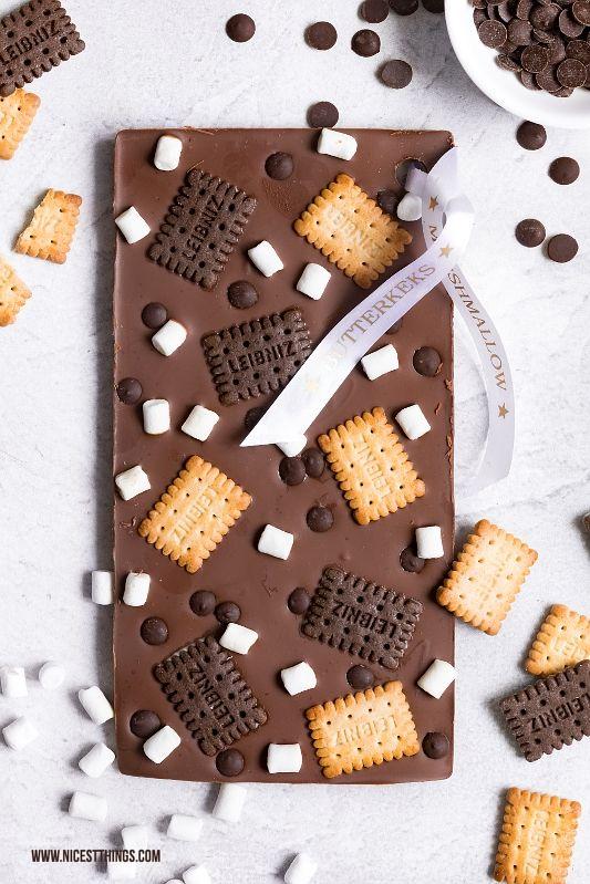 DIY Schokoladentafeln mit bedrucktem Band: Last Minute Geschenk - Nicest Things #marshmallows