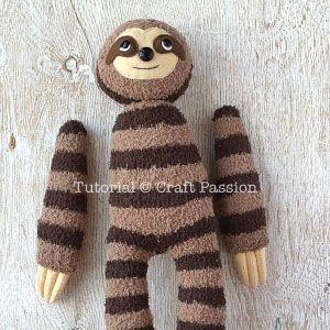 Sock Sloth Plushie - Free Sewing Pattern   Craft Passion