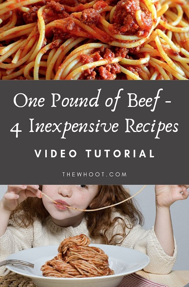 One Pound Ground Beef 4 Recipes Easy Meals Ground