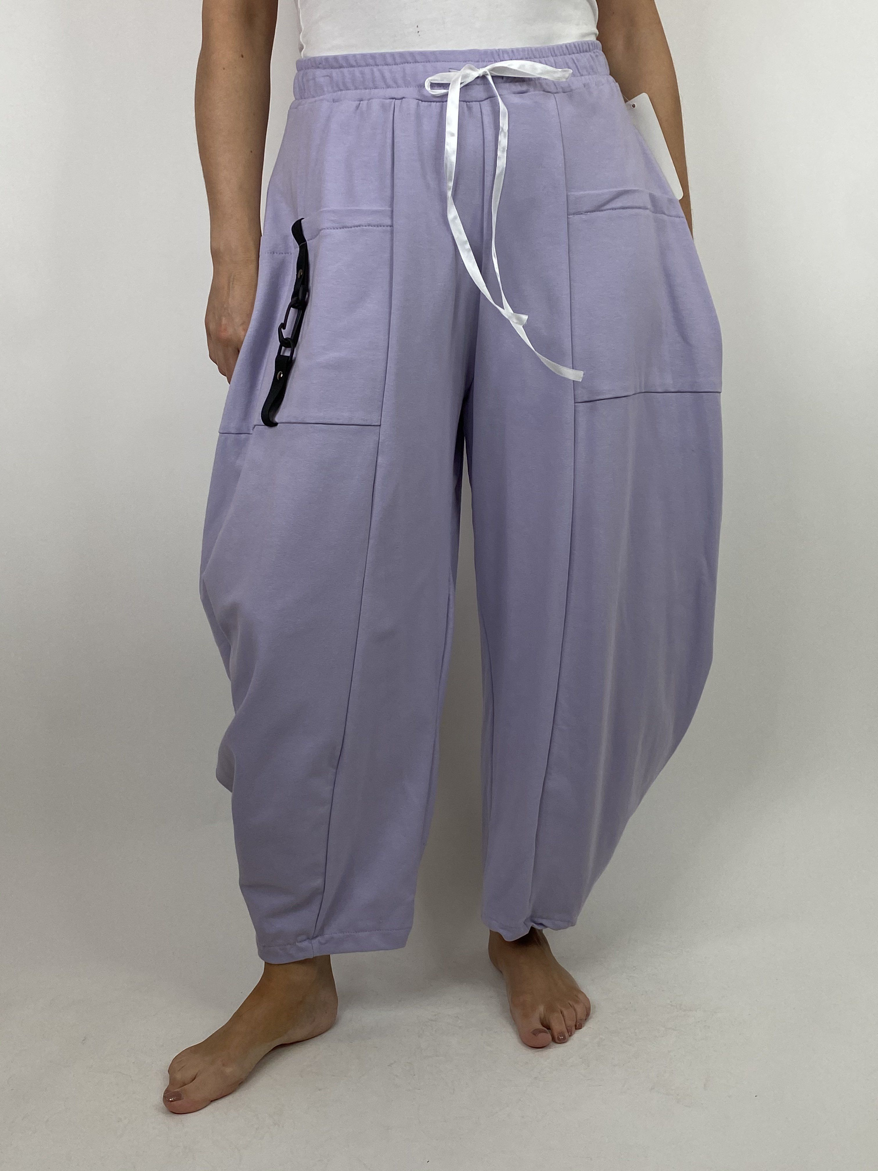 Lagenlook Wide Angle leg Sweat pants Trousers in Lilac. code 4040 #wideangle